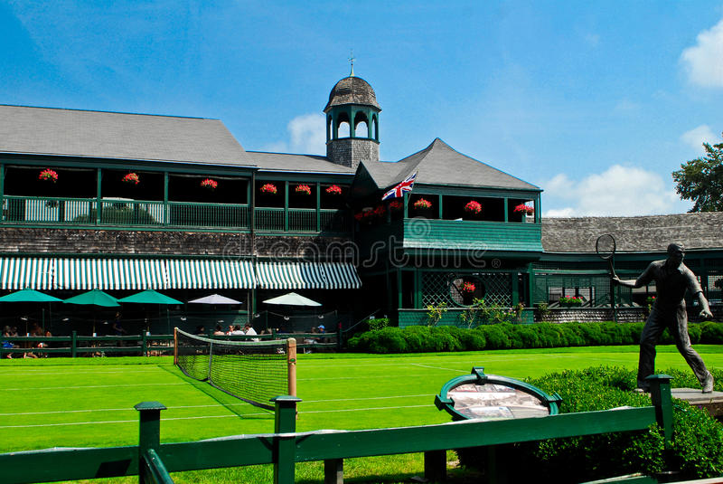 Hall of Fame principale di tennis di corte immagine stock