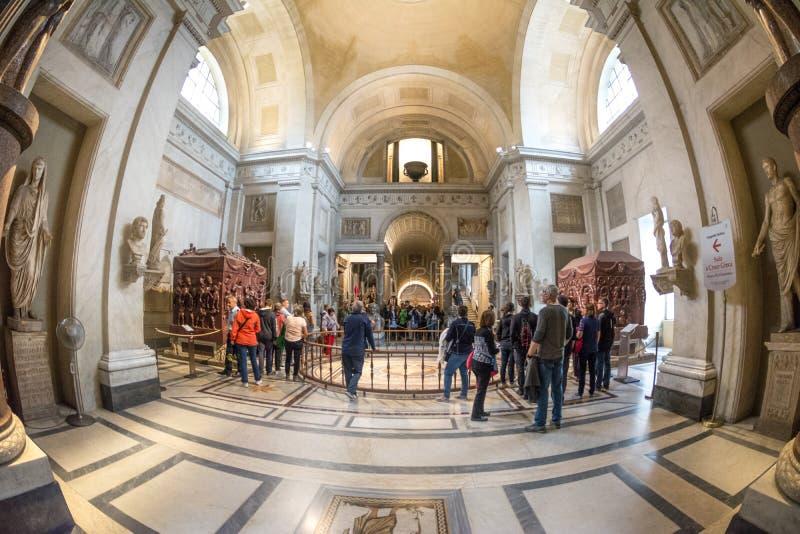 Hall Grecki krzyż Watykański muzeum fotografia royalty free