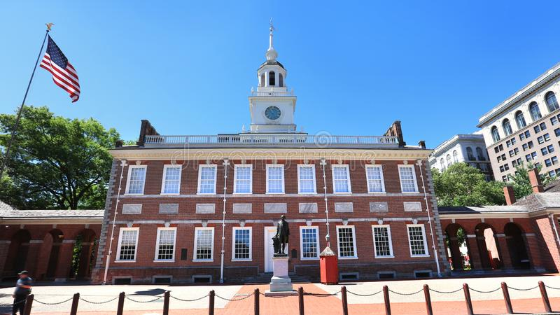 Hall historique de l'indépendance à Philadelphie du centre images stock