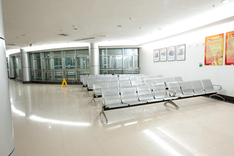 The hall of the hospital stock photos