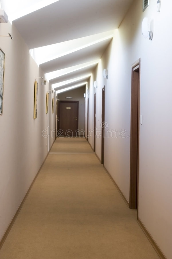 Hall in hotel royalty free stock image