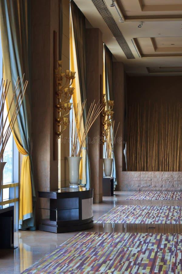 Hall of the hotel. At Bangkok, Thailand stock image