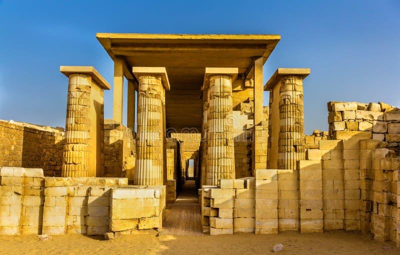 Hall hypostyle à la pyramide de Zoser - l'Egypte photos libres de droits