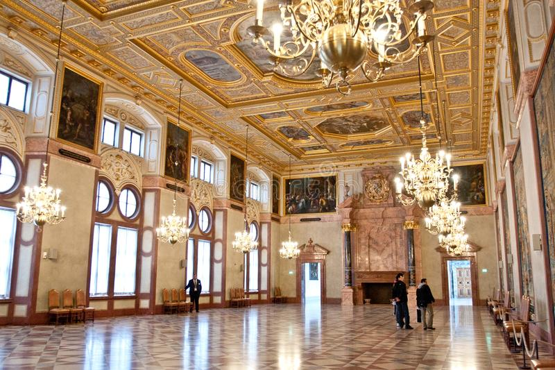 Hall impérial, Residenz, Munich, Allemagne photo stock
