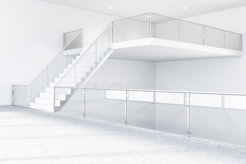 Hall industriel de b?timent d'affaires de style avec des escaliers illustration stock
