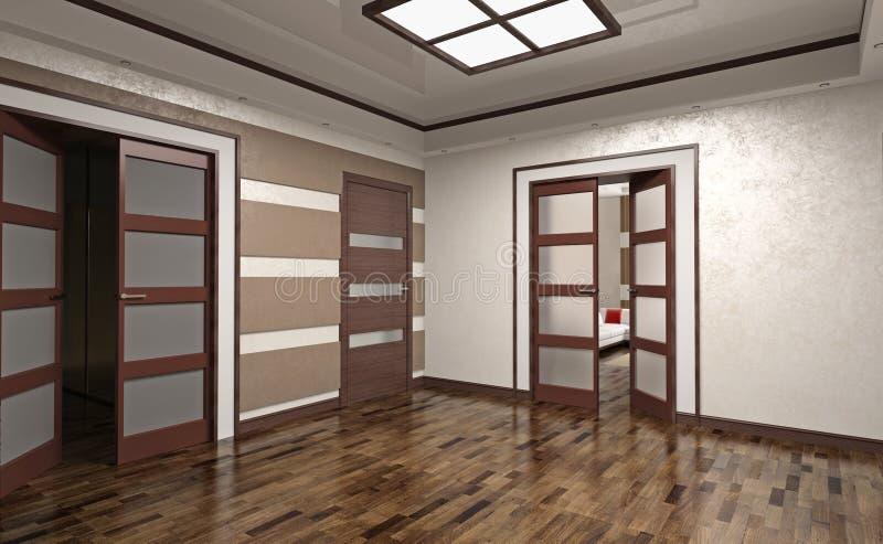 Hall-Innenraum lizenzfreie abbildung