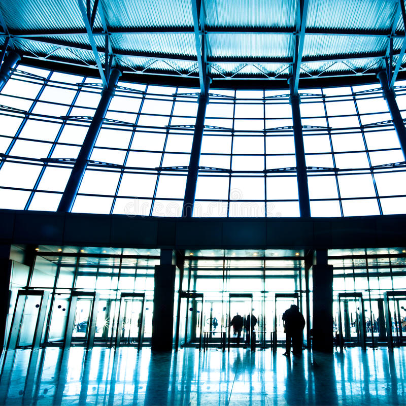 Download Hall Interior In Trade Center Stock Image - Image: 9798925