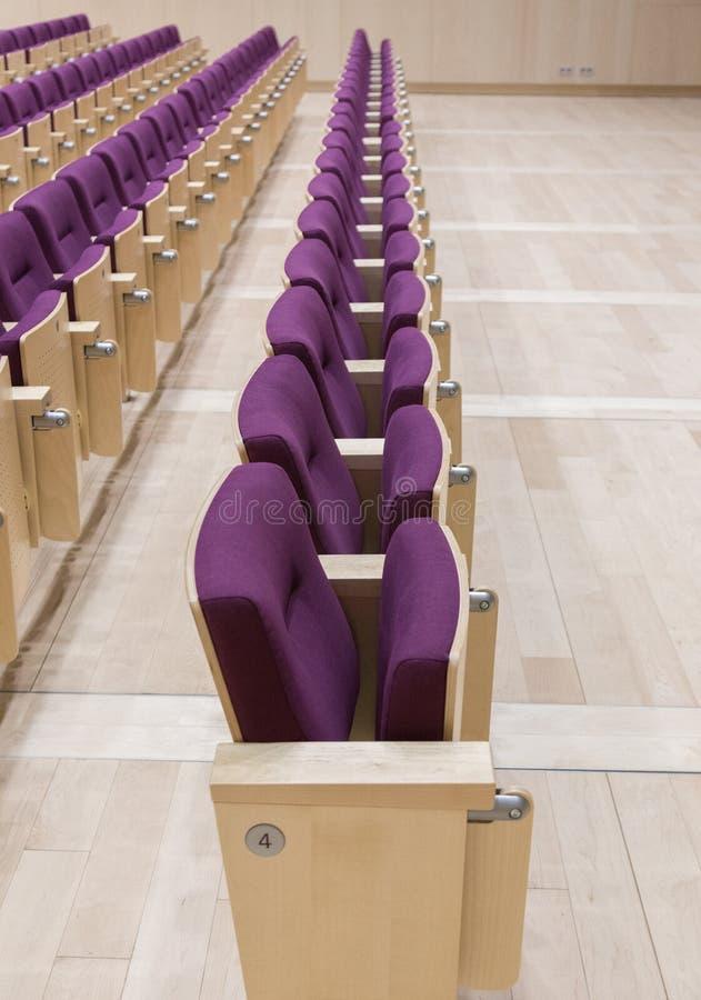 Hall letton de Bibliothèque nationale de chaises image libre de droits