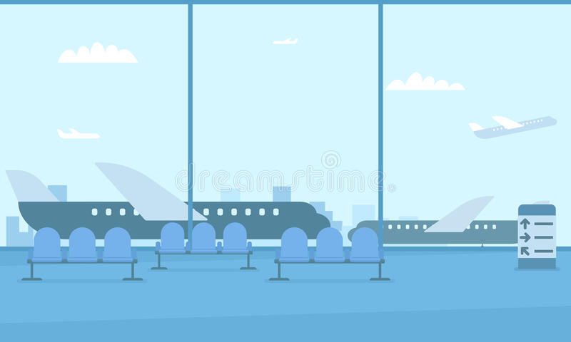 Hall lotnisko royalty ilustracja