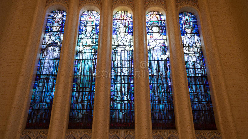 Hall Of Memory stained glass window royalty free stock image