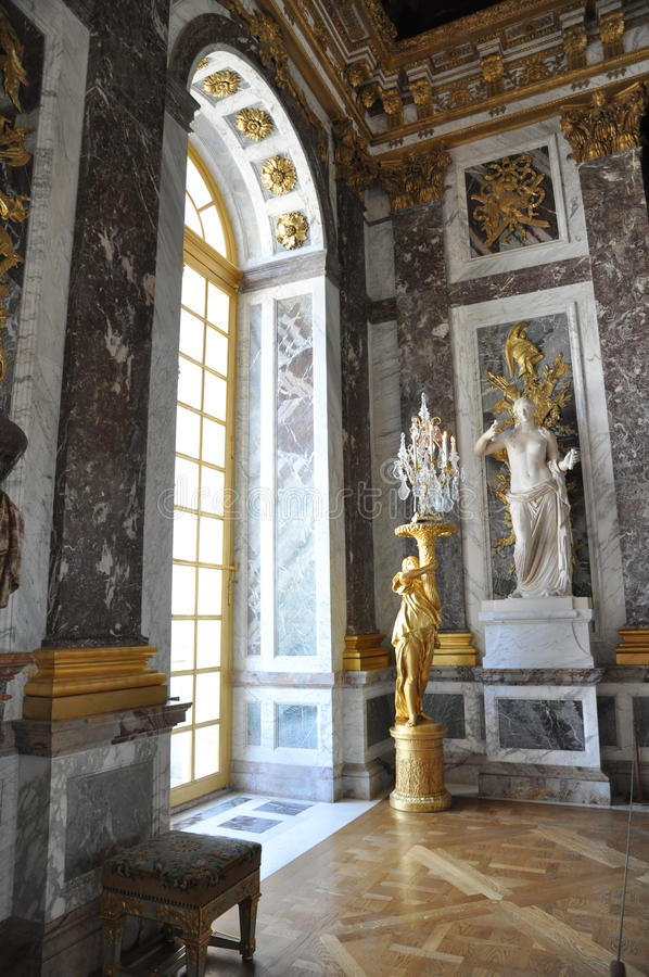 Hall of mirrors, Versailles stock image