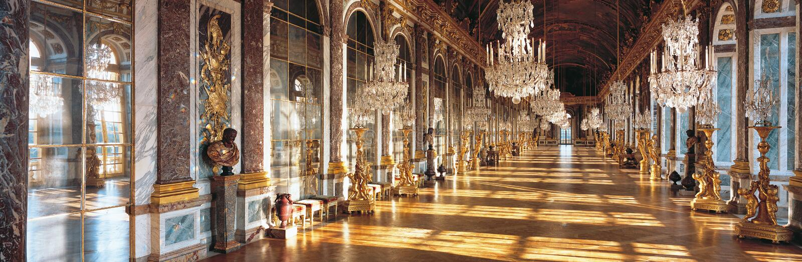 Download Hall Of Mirrors Of Versailles Palace France Stock Photo - Image of mirror, destinations: 47106454