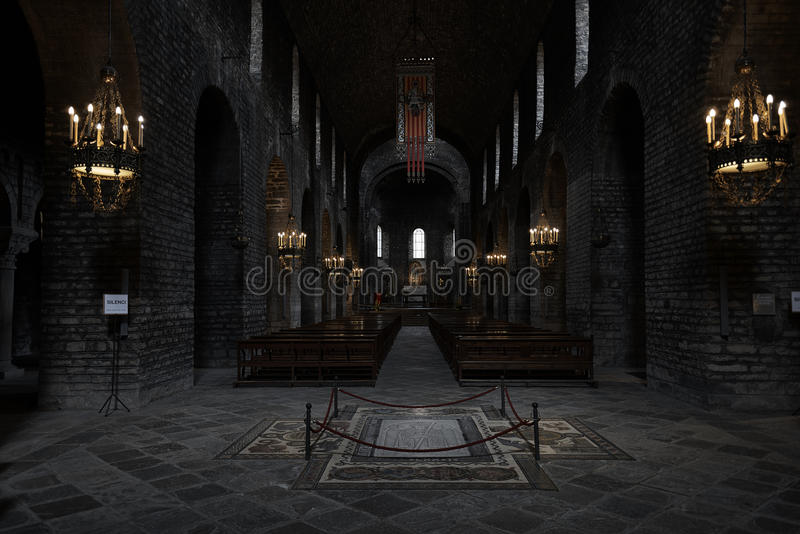 Hall monastery Santa Maria royalty free stock photos