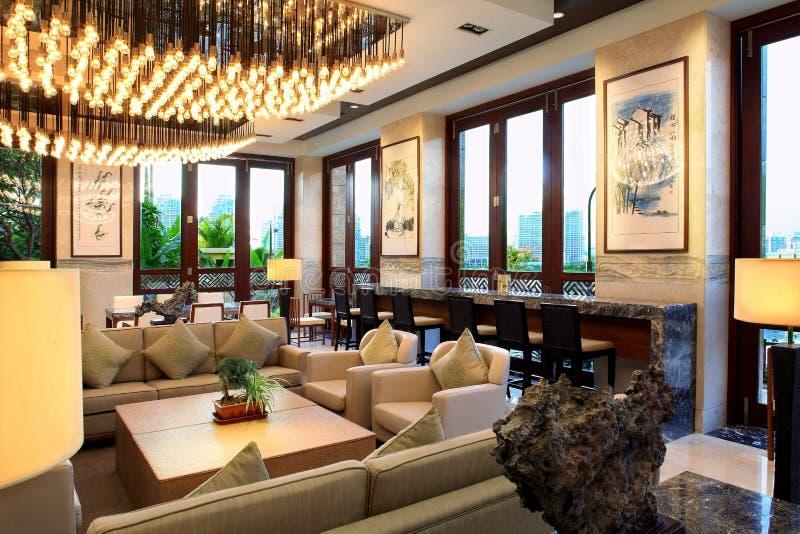 Hall multifonctionnel d'hôtel de tourisme de tourisme de Sanya photos libres de droits