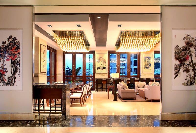 Hall multifonctionnel d'hôtel de tourisme de tourisme de Sanya image stock