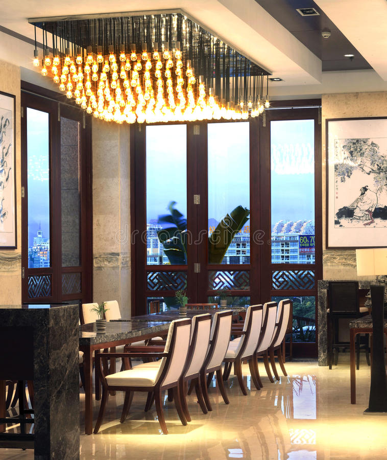 Hall multifonctionnel d'hôtel de tourisme de tourisme de Sanya photo libre de droits