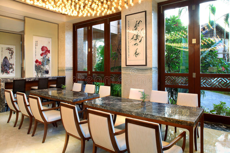 Hall multifonctionnel d'hôtel de tourisme de tourisme de Sanya photographie stock libre de droits
