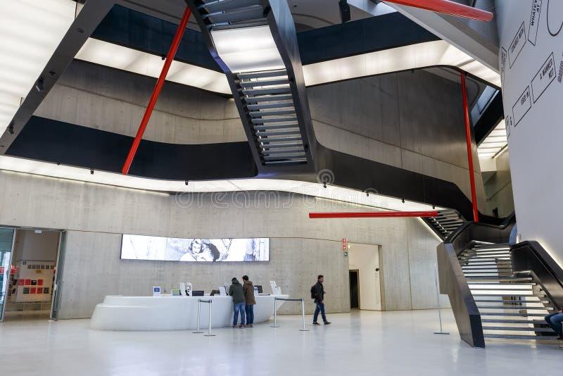 Hall National Museum XXI del secolo MAXXI Roma, Italia - F immagine stock libera da diritti