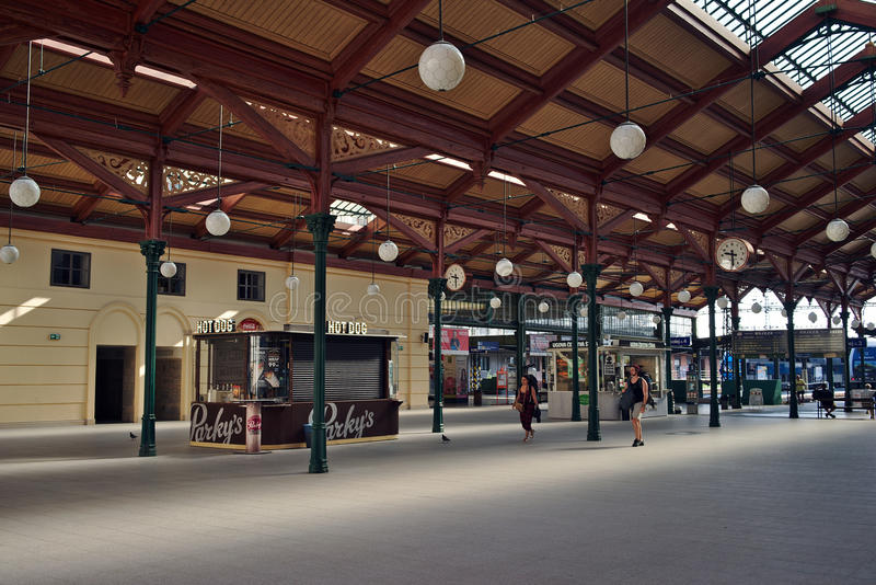 Hall of Old Masaryk Station in Prague stock photography