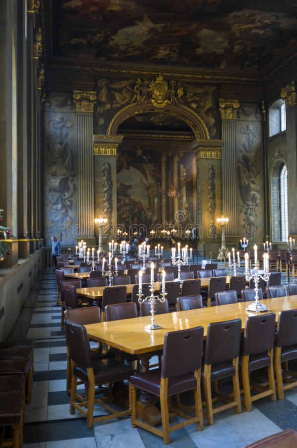 Hall Old Royal Naval College dipinto Greenwich fotografia stock