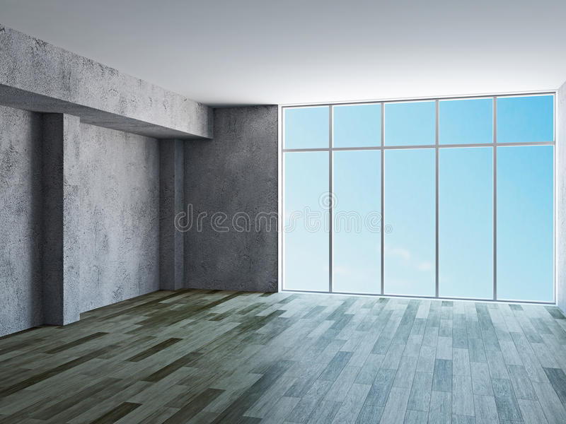 Download The hall with old walls stock illustration. Illustration of lobby - 34630578