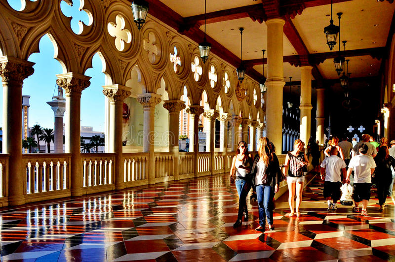 Hall på Venetian royaltyfri bild