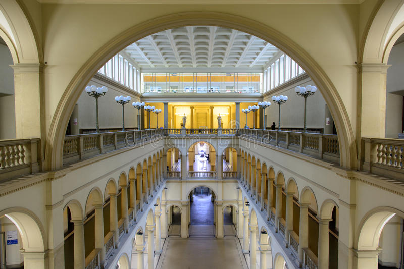 Hall principal d'université de Zurich, ETH photo stock