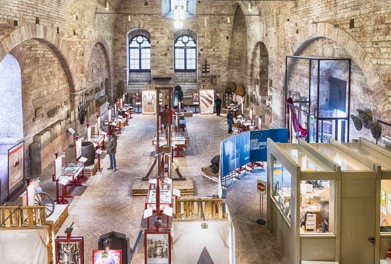 Hall principal de dei Consoli, Gubbio, Italie de Palazzo images libres de droits