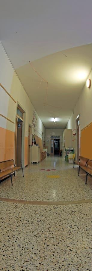 Hall przedszkole bez dzieci fotografia stock