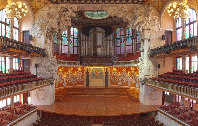 Hall przy Palau De Los angeles Musica catalana, Barcelona, Hiszpania, 2014 obraz stock