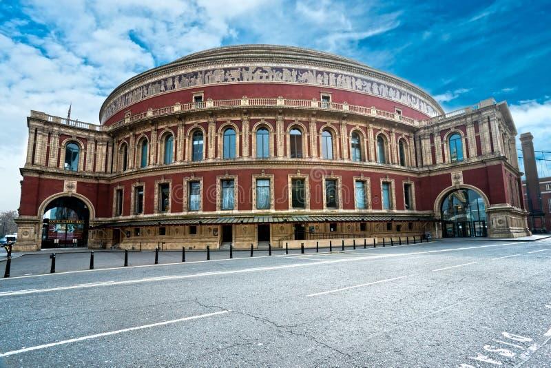 Hall royal d'Albert, Londres, R-U. image libre de droits