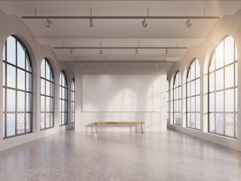 Hall spacieux vide illustration de vecteur