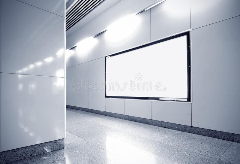 Download Hall Subway Station Blank Billboard Stock Image - Image of business, motion: 27071777