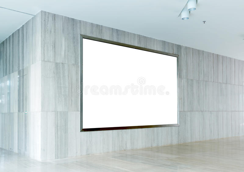Download Hall Subway Station Blank Billboard Stock Photo - Image: 27580636
