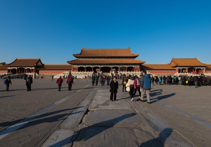 Hall Of Supreme Harmony na Cidade Proibida, Pequim, China imagem de stock royalty free