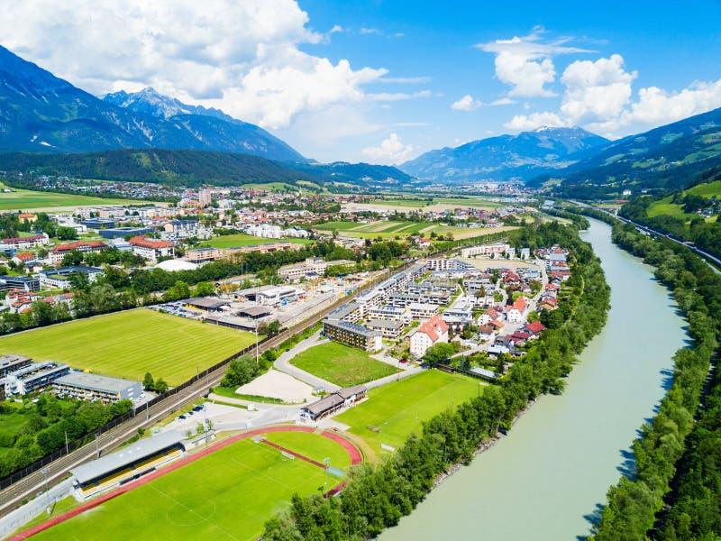Hall Tirol widok z lotu ptaka obrazy royalty free