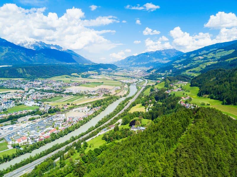 Hall Tirol widok z lotu ptaka obrazy stock