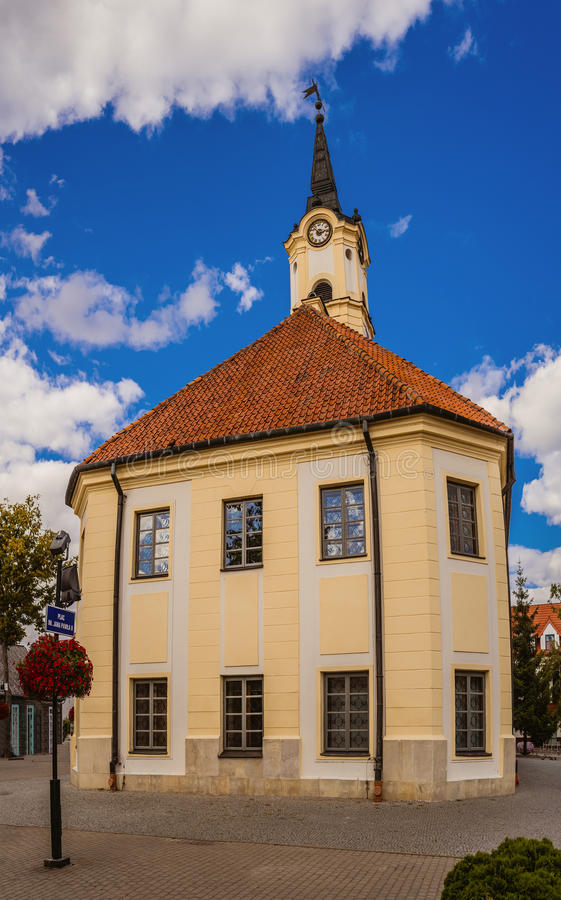 Hall town in Bielsk Podlaski. Is an Urban Gmina in Bielsk County, Podlaskie Voivodeship. It is located north-eastern Poland royalty free stock image