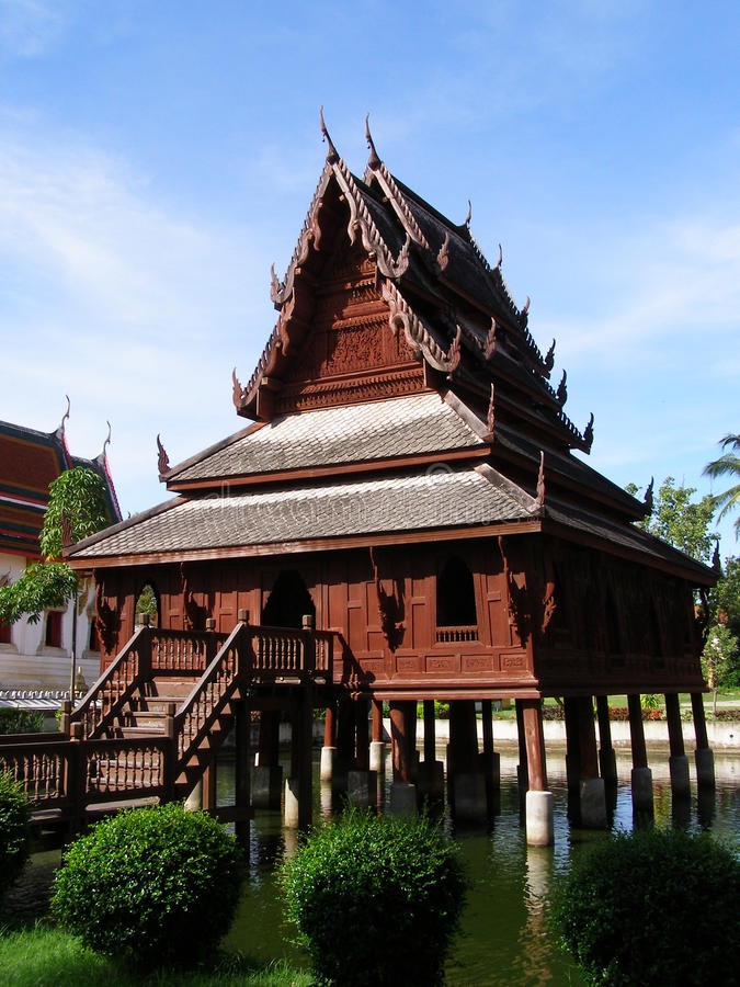 Hall of the Tripitaka royalty free stock photography