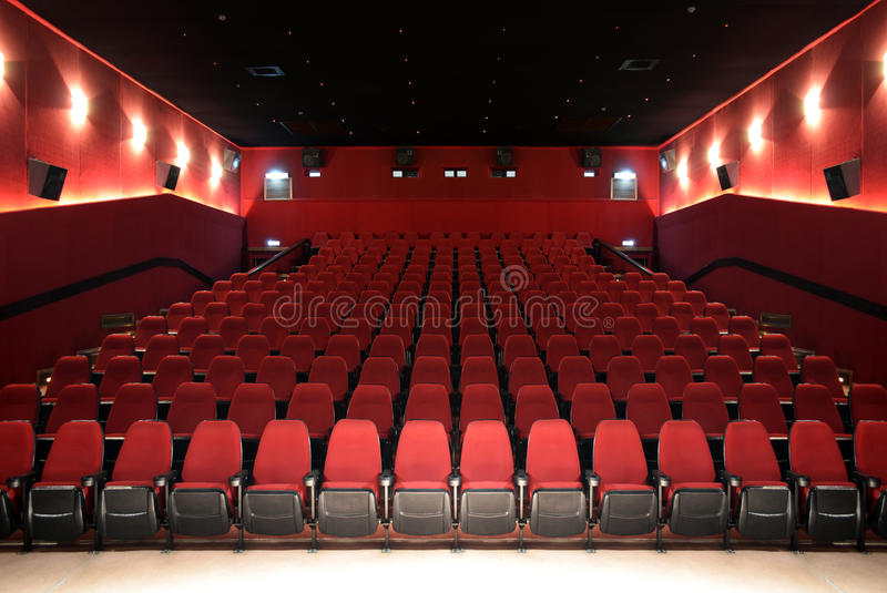 Hall Of un cinéma images libres de droits