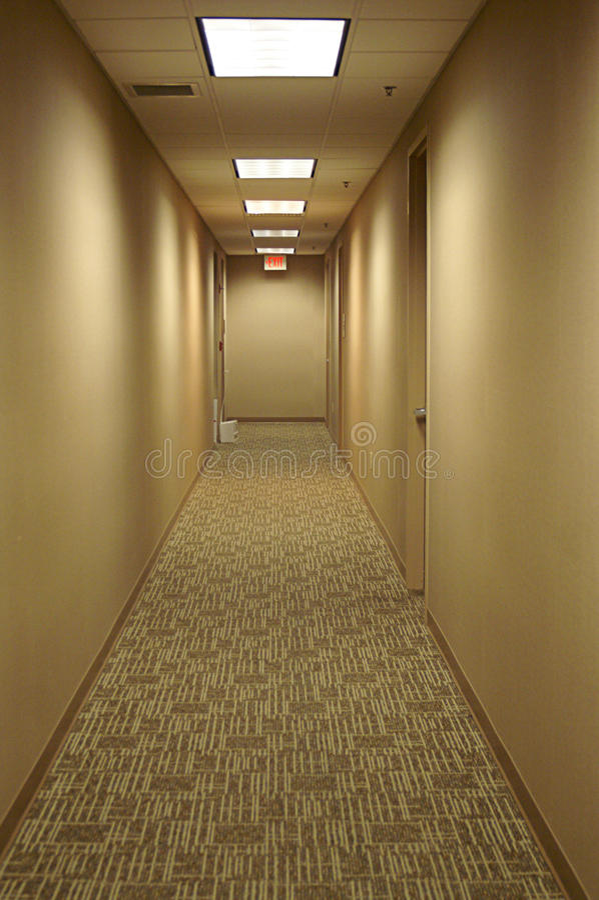 Hall Way a retirar imagens de stock