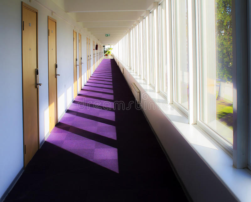 Hall way in spa hotel stock photography