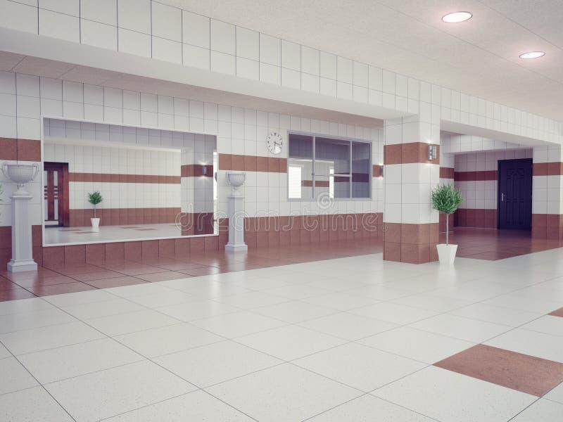 Hall wnętrze ilustracji