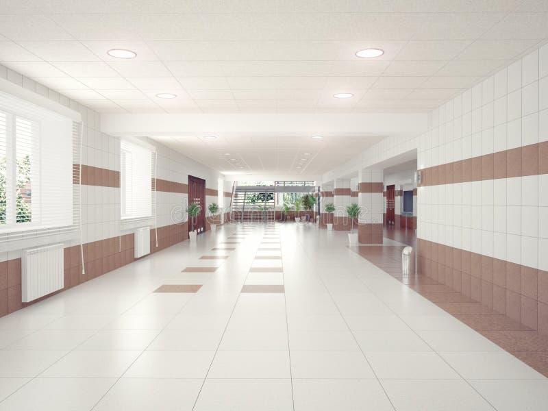 Hall wnętrze ilustracja wektor