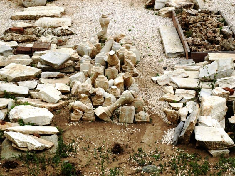 Hallazgos arqueológicos foto de archivo