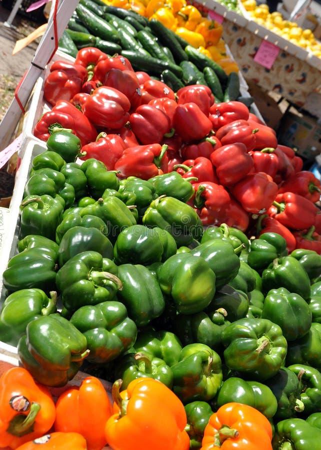 Hallazgos del mercado de los granjeros imagen de archivo