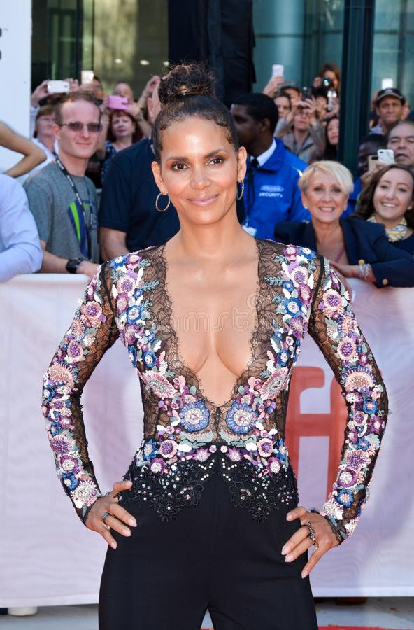Halle Berry at the `Kings` premiere royalty free stock photography