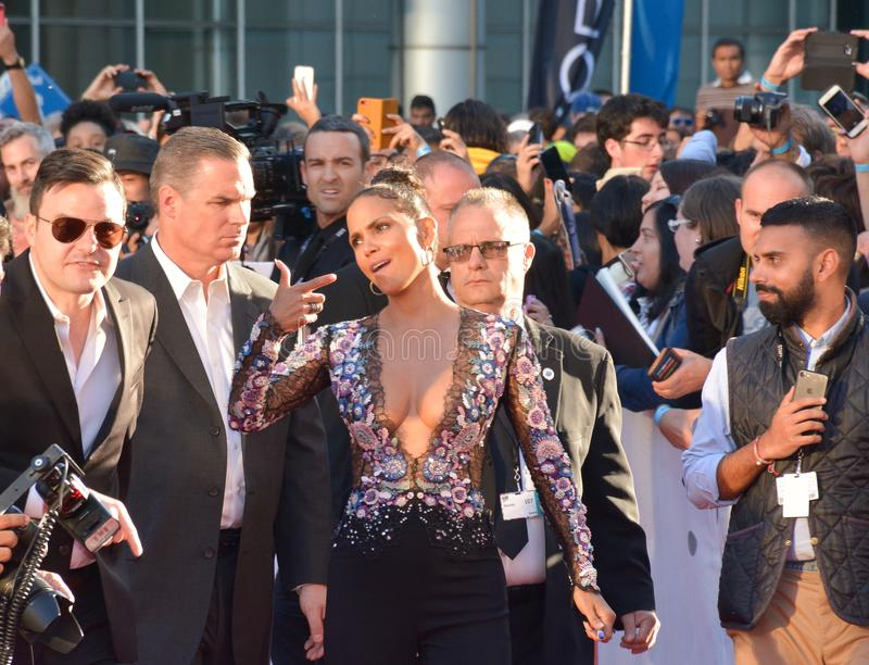 Halle Berry at the `Kings` premiere royalty free stock photo