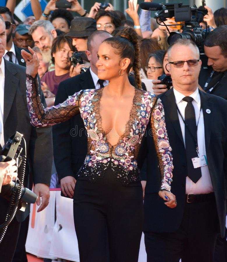Halle Berry at the `Kings` premiere stock image