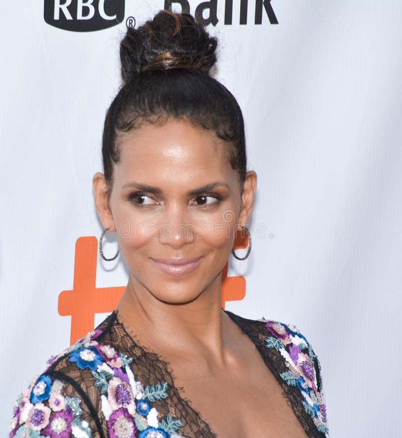 Actress Halle Berry at TIFF17 royalty free stock photography